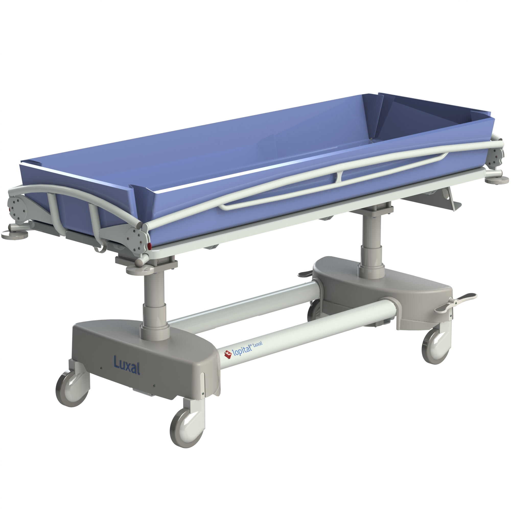jr healthcare rail atlas products ais tr shower bariatric side folded trolley