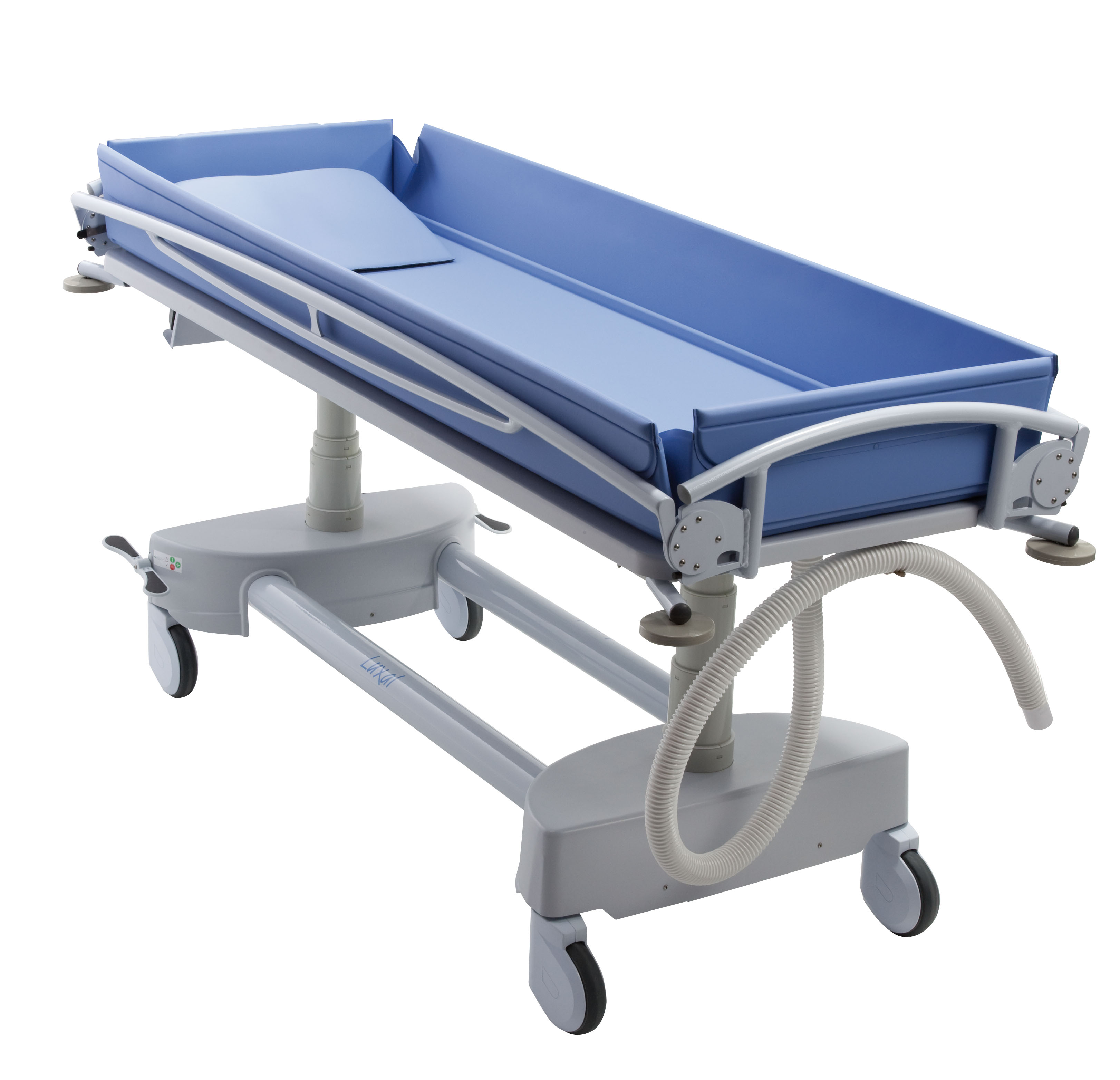 products atlas jr rail healthcare tr side folded shower ais trolley bariatric