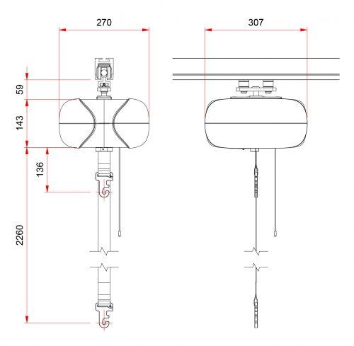 AR-200 Dimensions